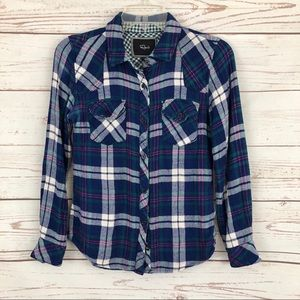 Rails Hunter Plaid Tartan Gauzy Flannel Shirt